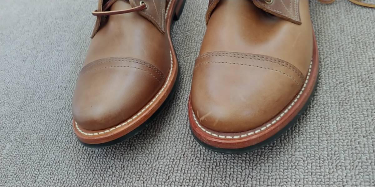 OAKSTREET BOOTMAKERS Dainite Trench Boot オークストリート ブーツメーカー トレンチブーツ size us9.5 27.5cm デウスエクスマキナコラボ_画像9