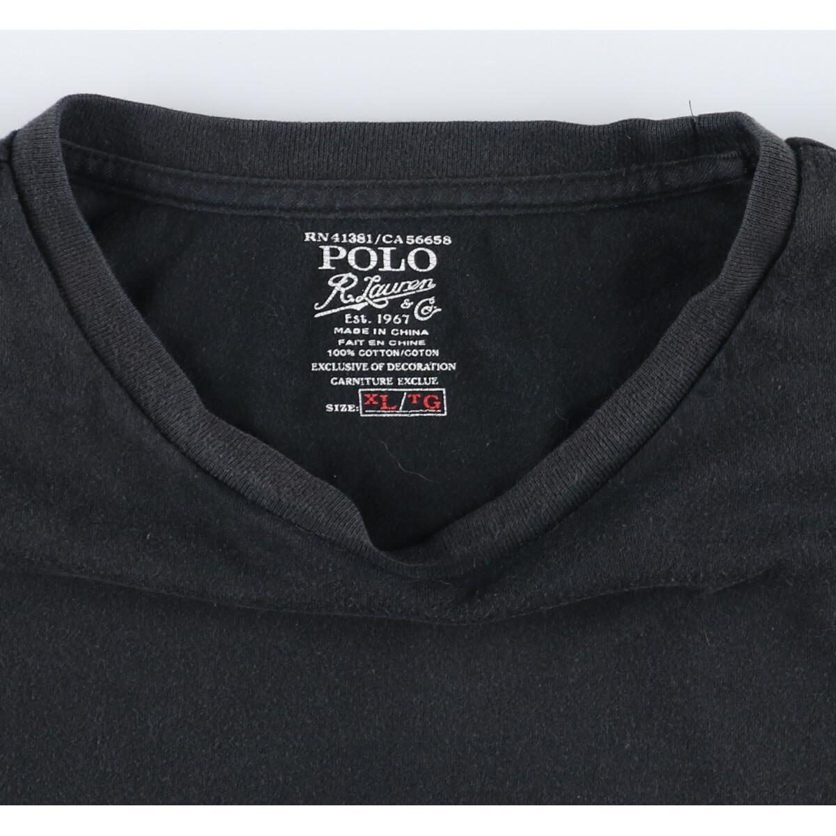 ラルフローレン Ralph Lauren POLO RALPH LAUREN 半袖 ワンポイントロゴTシャツ メンズXL /eaa160182_画像3
