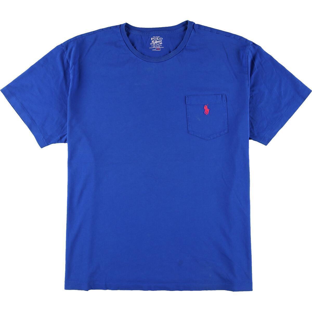 ラルフローレン Ralph Lauren POLO RALPH LAUREN 半袖 ワンポイントロゴポケットTシャツ メンズXL /eaa161572_画像1