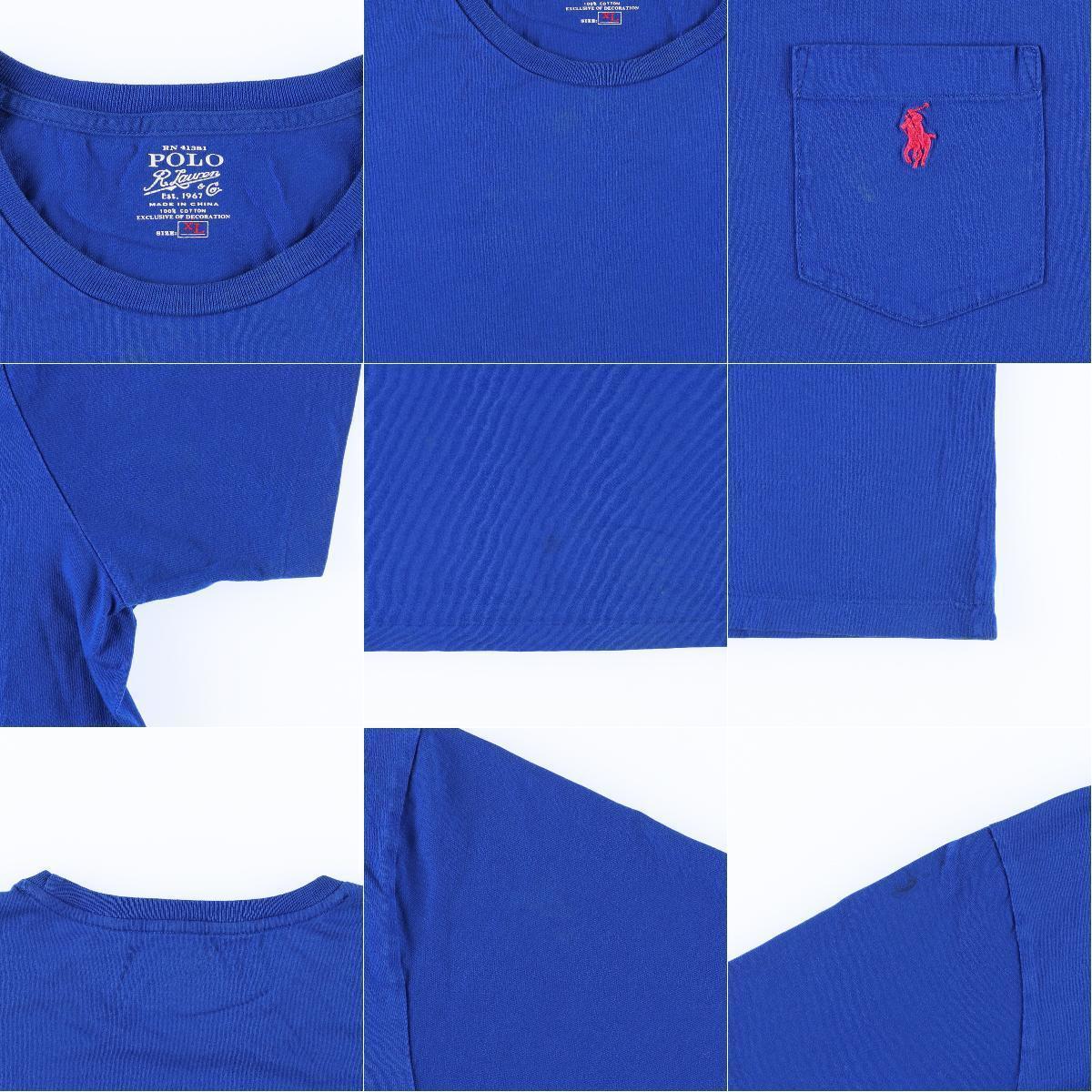 ラルフローレン Ralph Lauren POLO RALPH LAUREN 半袖 ワンポイントロゴポケットTシャツ メンズXL /eaa161572_画像3