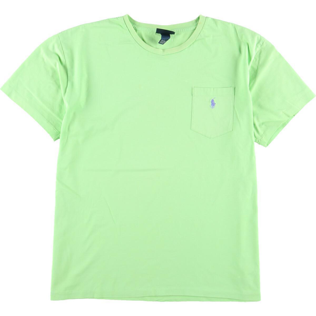 ラルフローレン Ralph Lauren POLO by Ralph Lauren 半袖 ワンポイントロゴポケットTシャツ メンズL /eaa167036_画像1