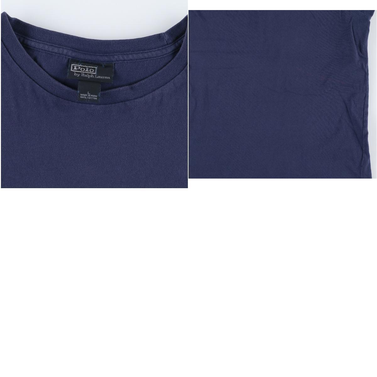 ラルフローレン Ralph Lauren POLO by Ralph Lauren 半袖 ワンポイントロゴTシャツ メンズL /eaa167039_画像3