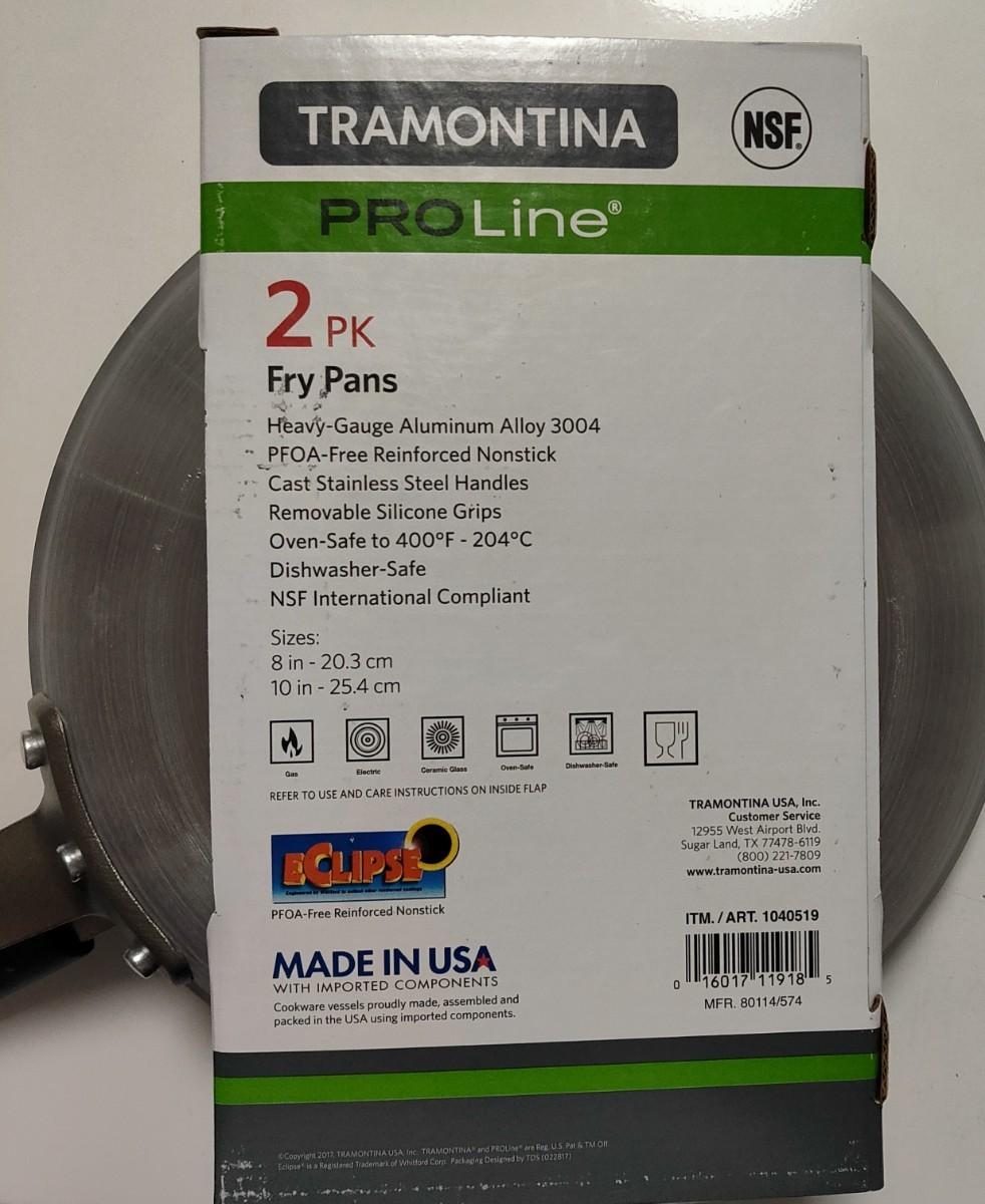 新品未開封★TRAMONTINA(トラモンティーナ)フライパン 2個セット 20/25cm