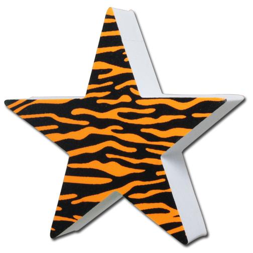 タイガー スター アンテナボール アンテナトッパー 車 目印 飾り カスタム USA トラ柄 虎 星 ギャル アクセサリー 定形外_画像1