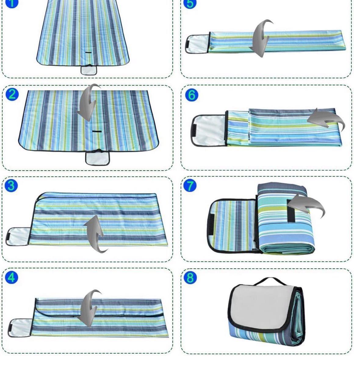レジャーシート ピクニックシート 折りたたみ 5〜8人用 200x220cm 保温 防水 洗える 厚手 快適な座り心地 軽量
