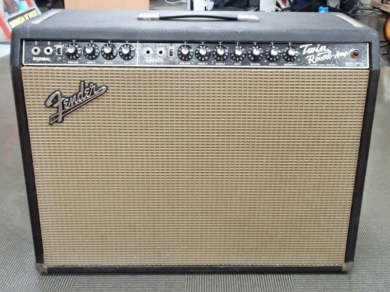 ●Fender USA 真空管ギターアンプ 1964 Twin Reverb Black Face 中古