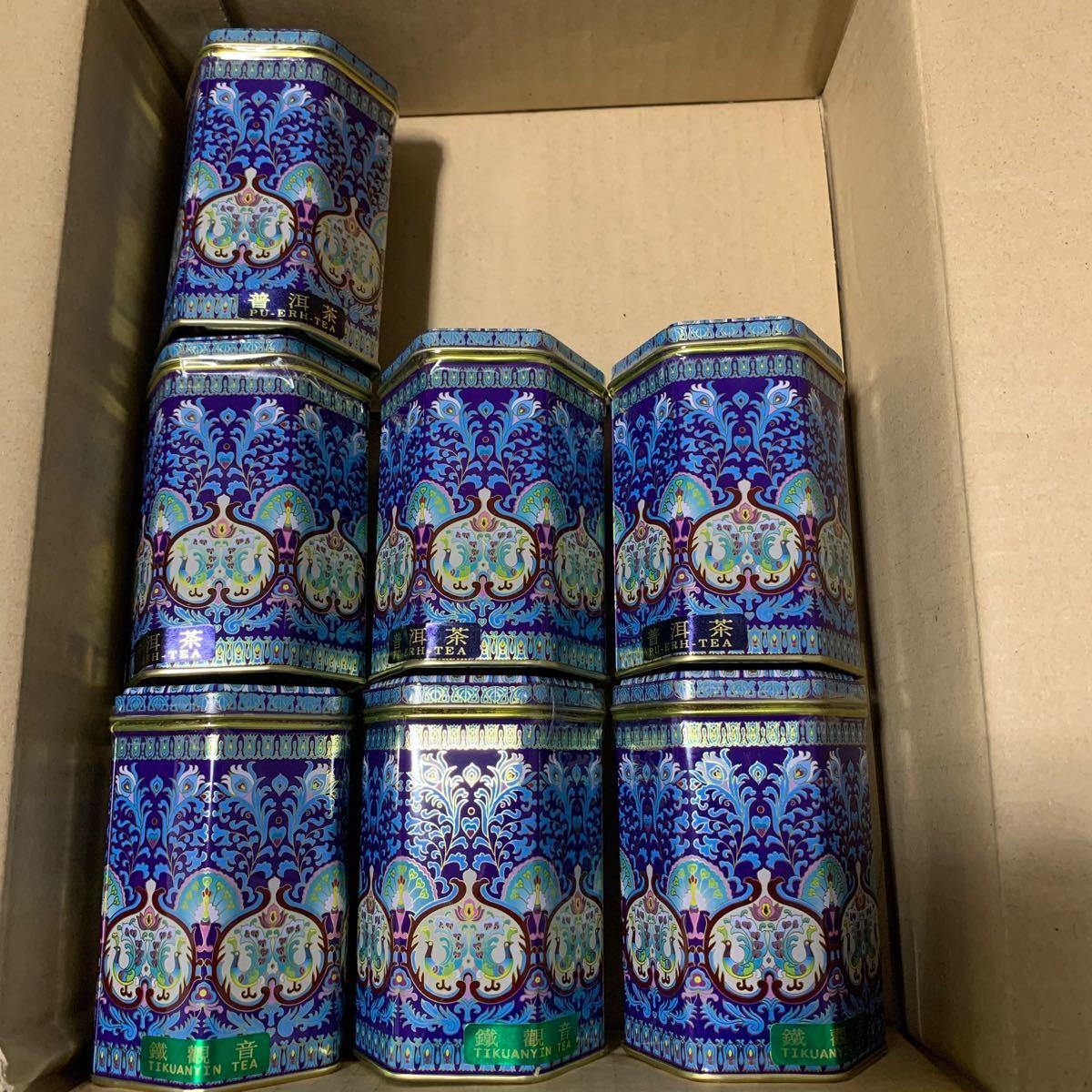 中国茶 7缶セット 鉄観音茶 プーアル茶