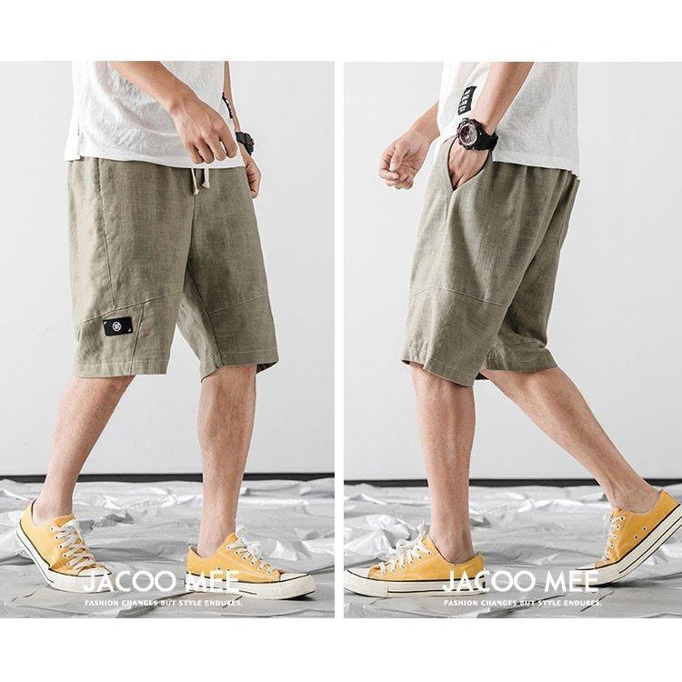 ショートパンツ メンズ 麻パンツ ハーフパンツ リネンパンツ ショートパンツ メンズ 麻パンツ ハーフパンツ リネンパンツ 無地 クロップ