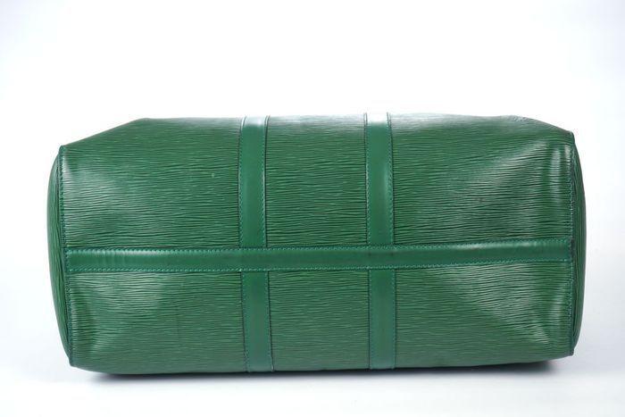 【極美品】ルイヴィトン Louis Vuitton エピ キーポル45 ボストンバッグ 旅行バッグ レザー グリーン メンズ 定価約24万 3808_最低落札金額無しで、出品中です。