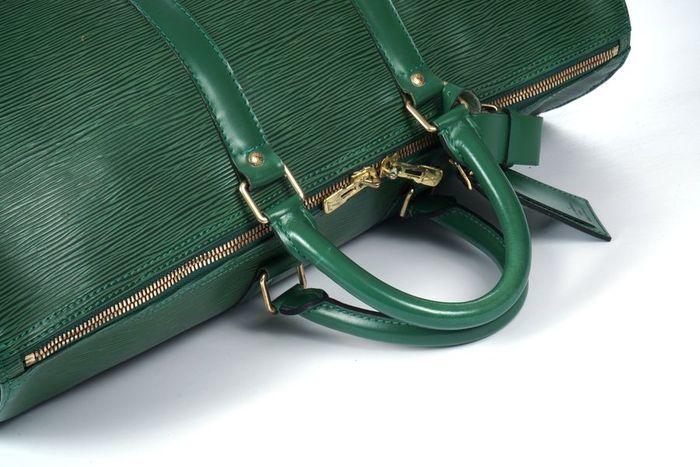 【極美品】ルイヴィトン Louis Vuitton エピ キーポル45 ボストンバッグ 旅行バッグ レザー グリーン メンズ 定価約24万 3808_画像6