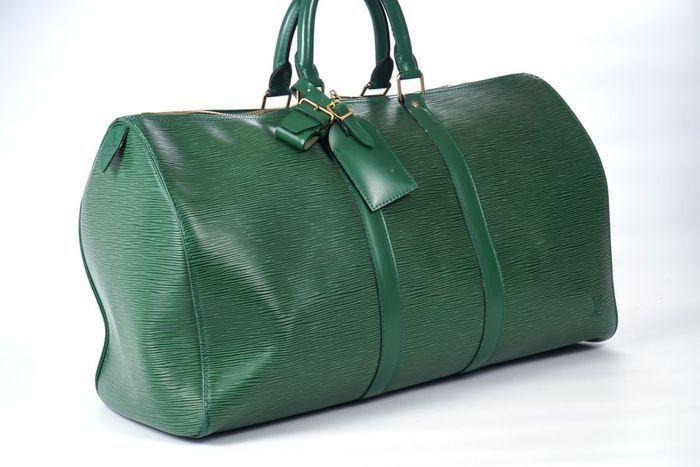 【極美品】ルイヴィトン Louis Vuitton エピ キーポル45 ボストンバッグ 旅行バッグ レザー グリーン メンズ 定価約24万 3808_正規品のみを取り扱っております。