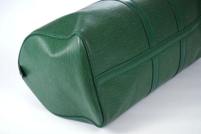 【極美品】ルイヴィトン Louis Vuitton エピ キーポル45 ボストンバッグ 旅行バッグ レザー グリーン メンズ 定価約24万 3808_画像5