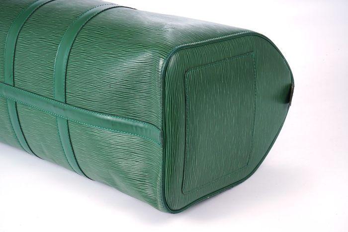 【極美品】ルイヴィトン Louis Vuitton エピ キーポル45 ボストンバッグ 旅行バッグ レザー グリーン メンズ 定価約24万 3808_画像4