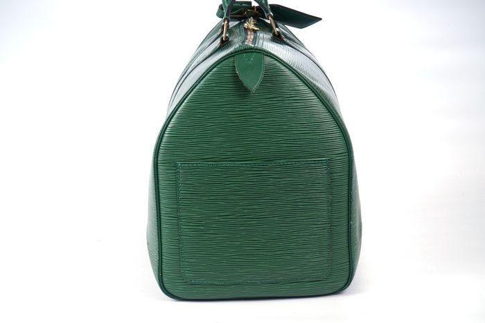 【極美品】ルイヴィトン Louis Vuitton エピ キーポル45 ボストンバッグ 旅行バッグ レザー グリーン メンズ 定価約24万 3808_画像7