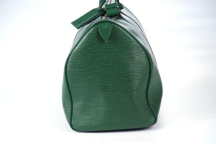 【極美品】ルイヴィトン Louis Vuitton エピ キーポル45 ボストンバッグ 旅行バッグ レザー グリーン メンズ 定価約24万 3808_画像8