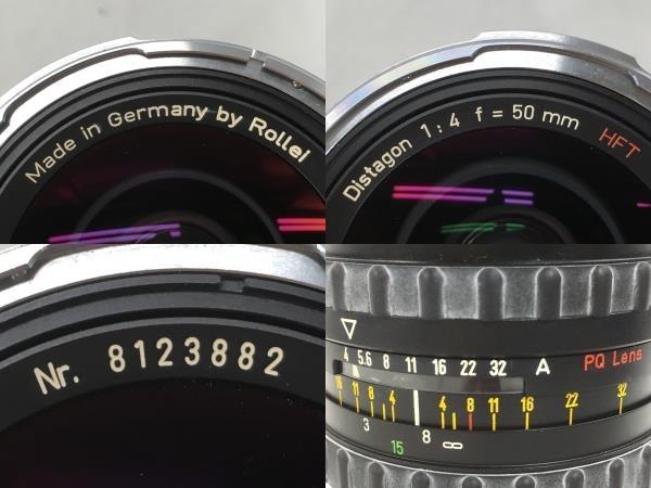 Rollei Distagon 50mm 4 HFT PQ レンズ 中判カメラ 6008用 中古 W5625390_画像7