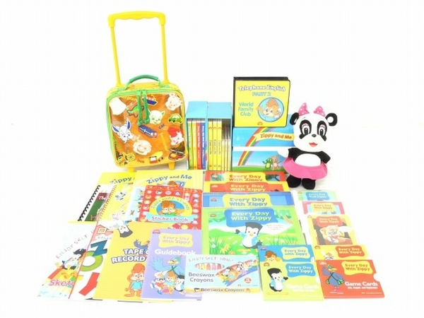 DWE ジッピー セット Zippy and Me Every Day With Zippy ワールドファミリー ディズニー英語 幼児 教材 中古 O5619516