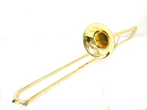 YAMAHA ヤマハ 300シリーズ YSL354 トロンボーン B♭管 テナー ゴールドラッカー ハードケース マウスピース 付き 管楽器 中古 M5592476