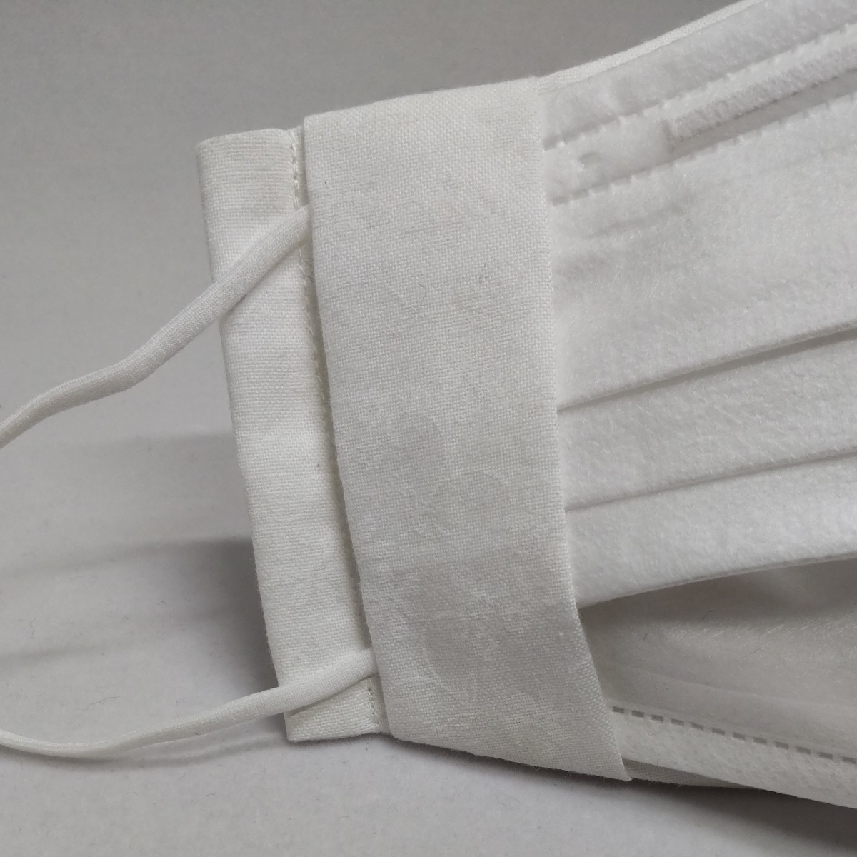 立体インナー立体カバー コットン花柄 白 2wayタイプ