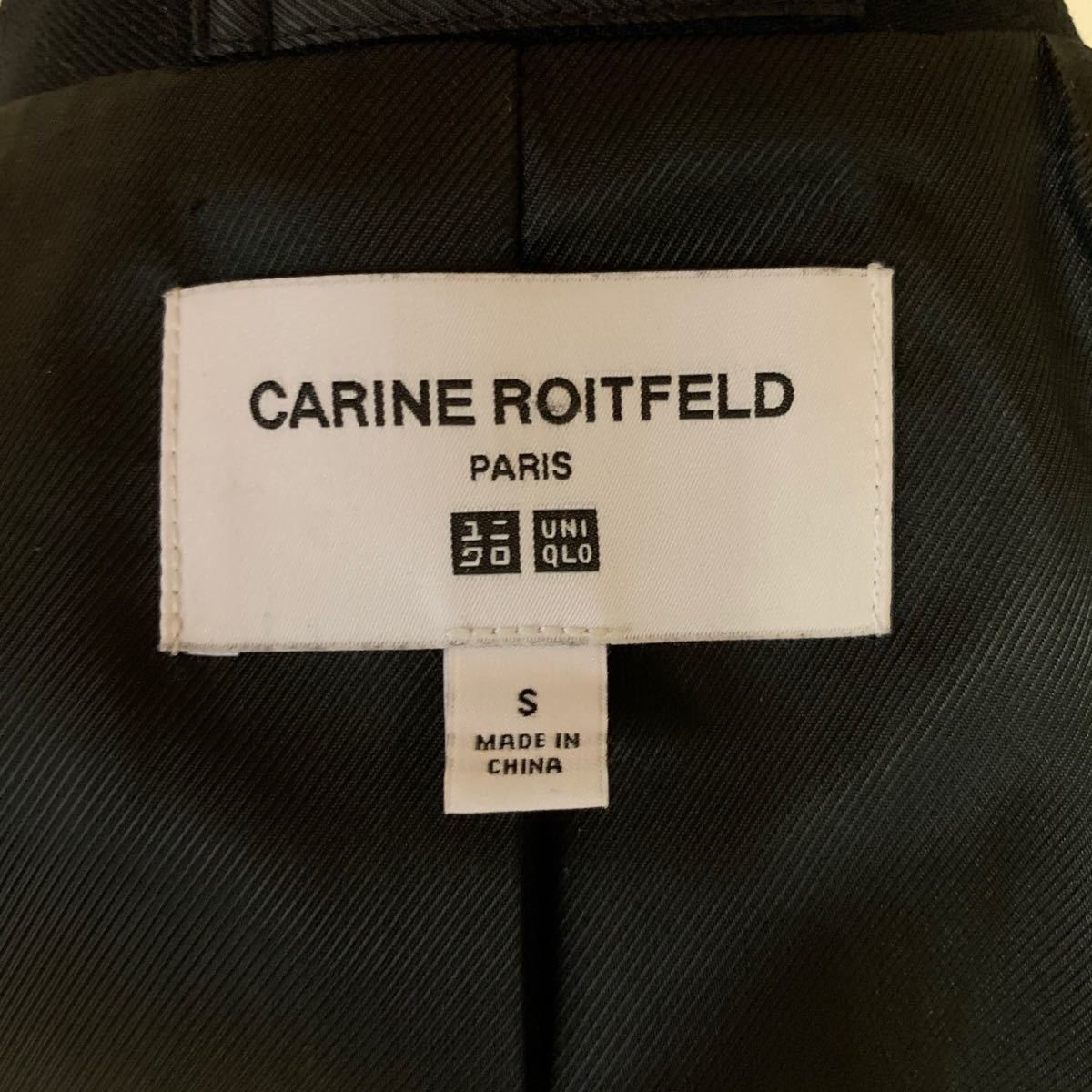 黒 ジャケット 上着 ユニクロ UNIQLO CARINE ROITFELD  テーラードジャケット カリーヌ ロワトフェルド