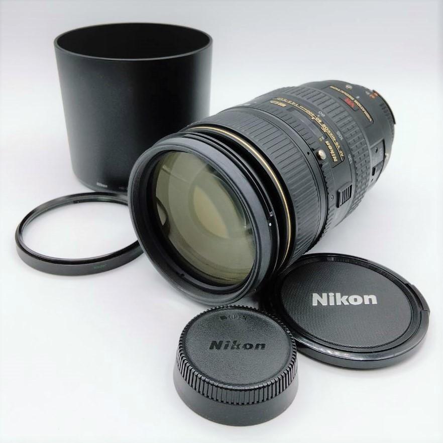 売り切り! ニコン Nikkor AF-S VR NIKKOR 80-400mm 1:4.5-5.6D フィルター レンズキャップ フード付き Nikon MD24ZN10ELC