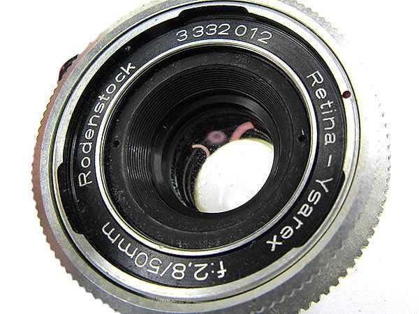 【オールドレンズ】Rodenstock Retina-Ysarex 50mm/f2.8 デッケルマウント【現状品】【ジャンク扱】 _画像2