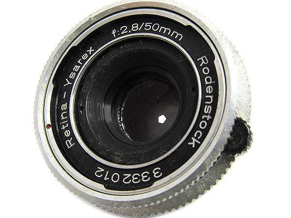 【オールドレンズ】Rodenstock Retina-Ysarex 50mm/f2.8 デッケルマウント【現状品】【ジャンク扱】 _画像3