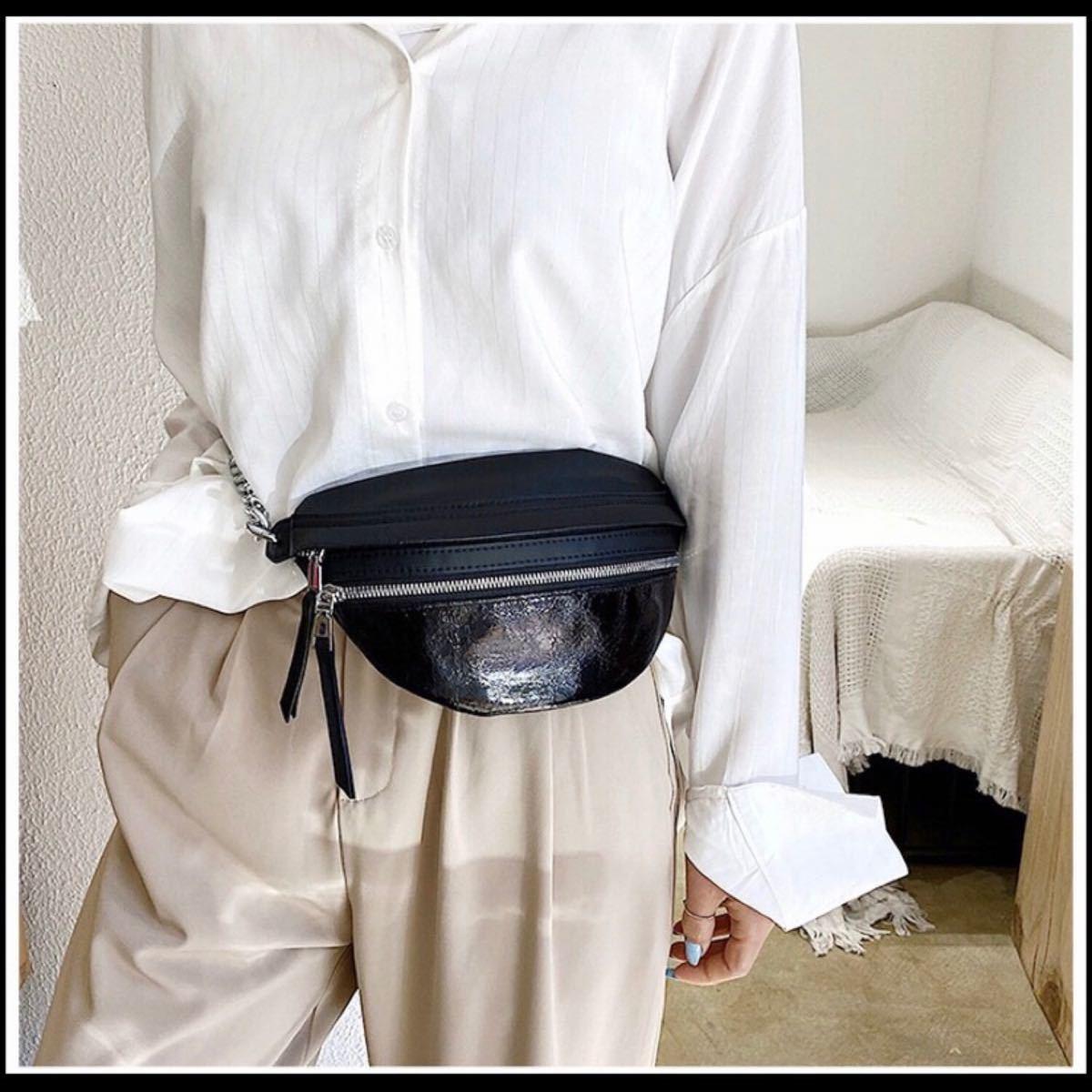 ウエストポーチ ボディーバッグ チェーン バッグ おしゃれ トレンド 新品 ショルダーバッグ ボディバッグ