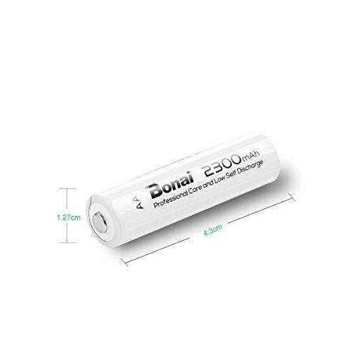 8個パック(高容量2300mAh 約1200回使用可能) BONAI 単3形 充電式電池 ニッケル水素電池 8個パック 自然放電_画像5