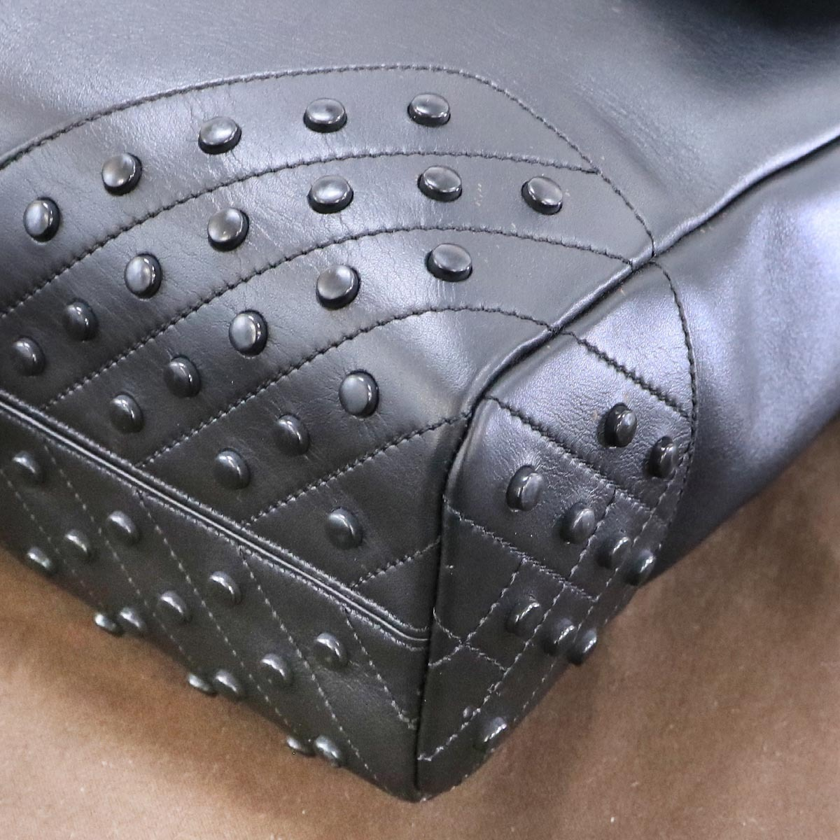 本物 新品同 トッズ 絶盤 メンズランウェイ限定 ゴンミーニ 2WAYメンズビジネスバッグ ブラック A4書類ブリーフケース トートバッグ TODS_画像7
