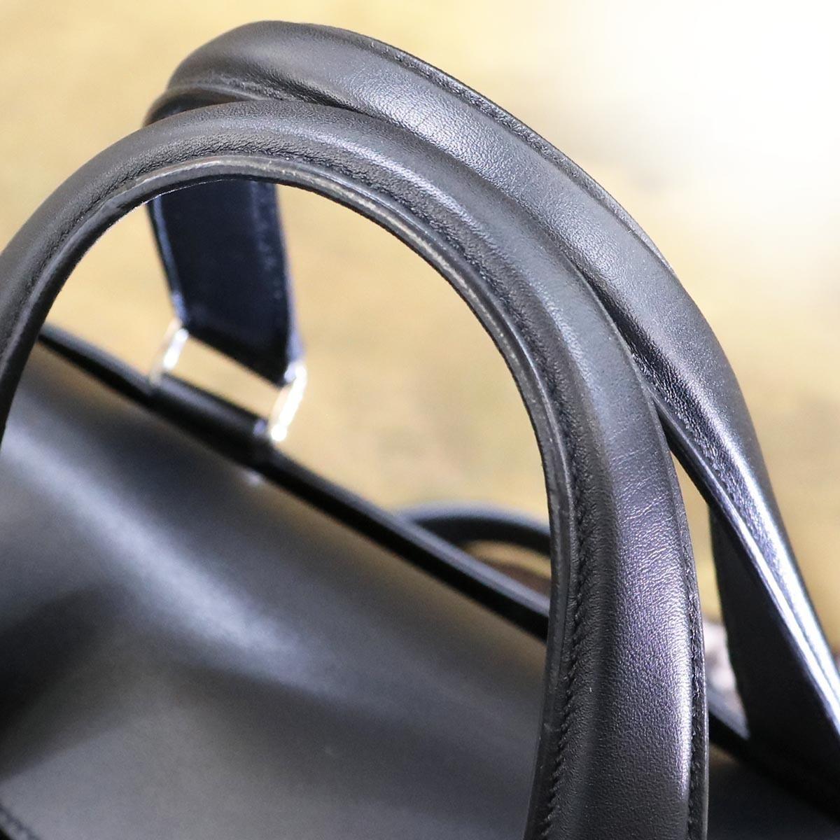本物 新品同 トッズ 絶盤 メンズランウェイ限定 ゴンミーニ 2WAYメンズビジネスバッグ ブラック A4書類ブリーフケース トートバッグ TODS_画像5