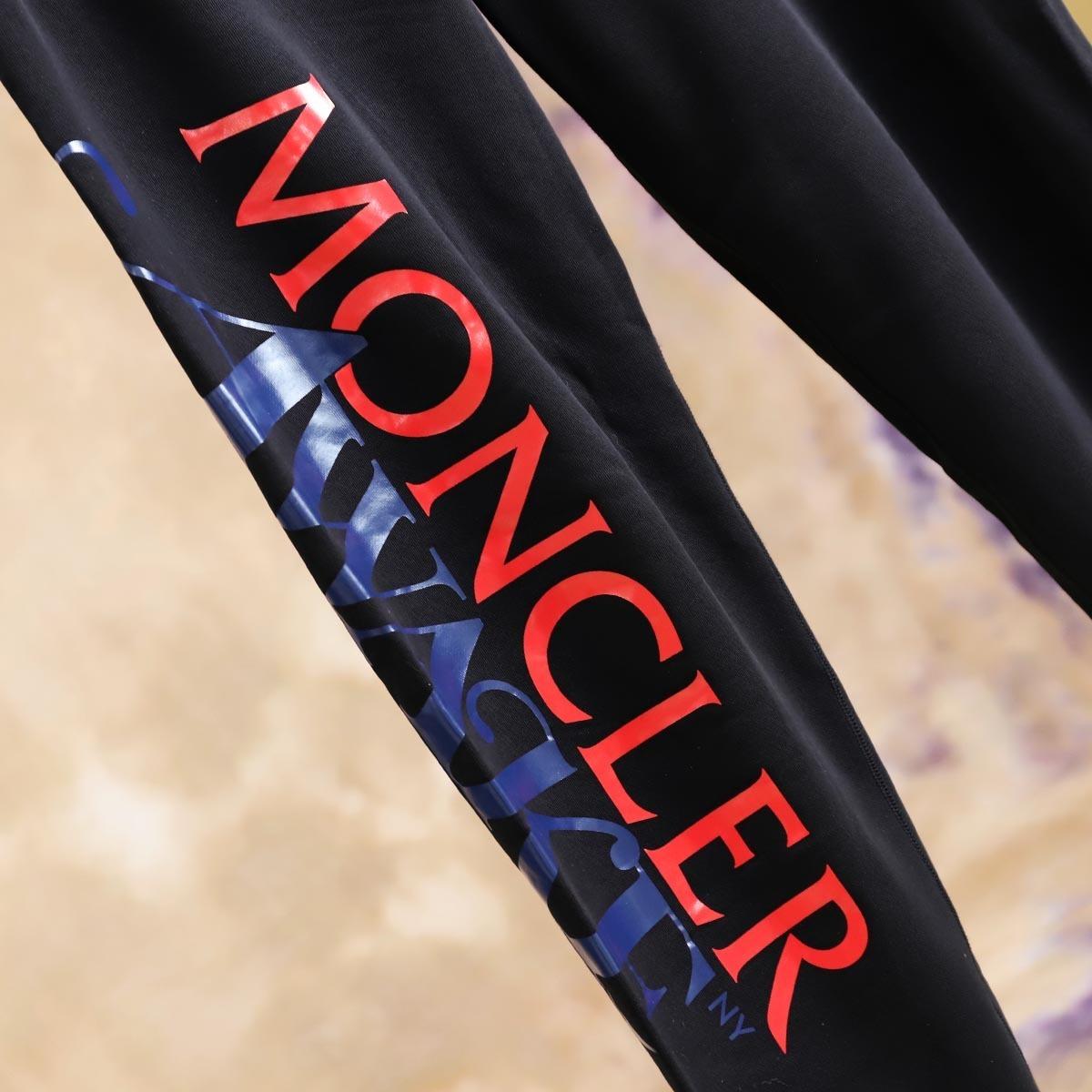 本物 極上品 モンクレール×アウェイクニューヨーク コラボ ドローコード付き ジーニアススウエットパンツ メンズS ブラック ボトム_画像3