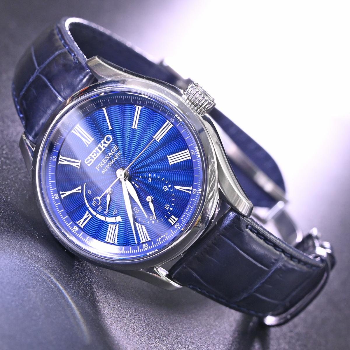 本物 美品 セイコー 限定品 SARW039 エナメル七宝文字盤 メカニカル プレサージュ メンズウォッチ 男性用自動巻腕時計 保証書 取説付 SEIKO_画像2