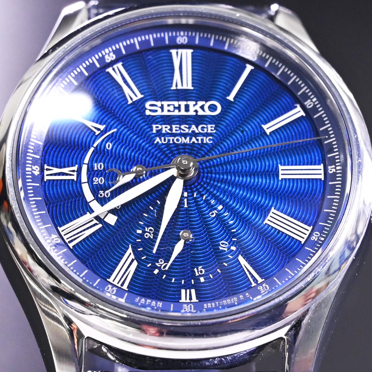 本物 美品 セイコー 限定品 SARW039 エナメル七宝文字盤 メカニカル プレサージュ メンズウォッチ 男性用自動巻腕時計 保証書 取説付 SEIKO_画像6