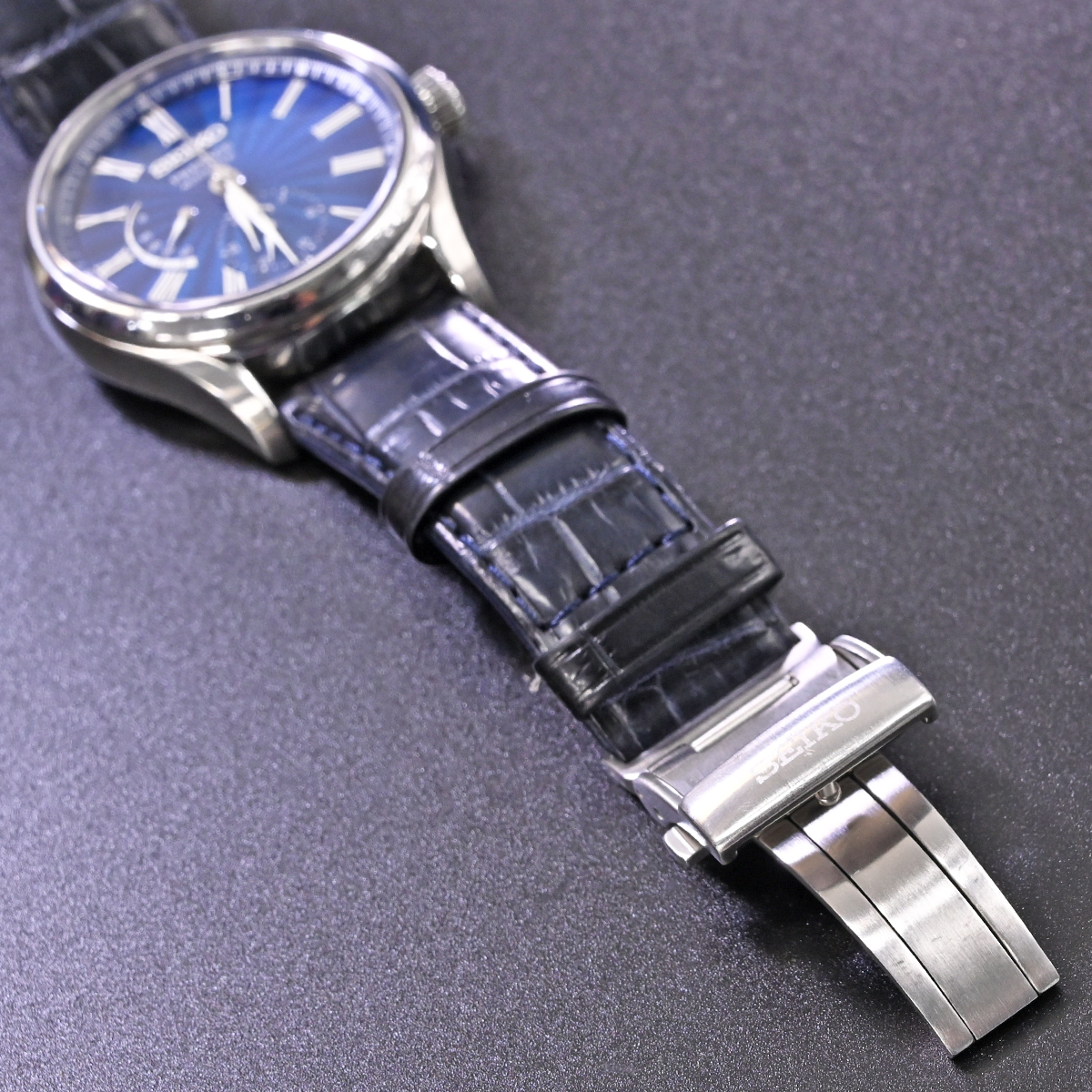 本物 美品 セイコー 限定品 SARW039 エナメル七宝文字盤 メカニカル プレサージュ メンズウォッチ 男性用自動巻腕時計 保証書 取説付 SEIKO_画像9