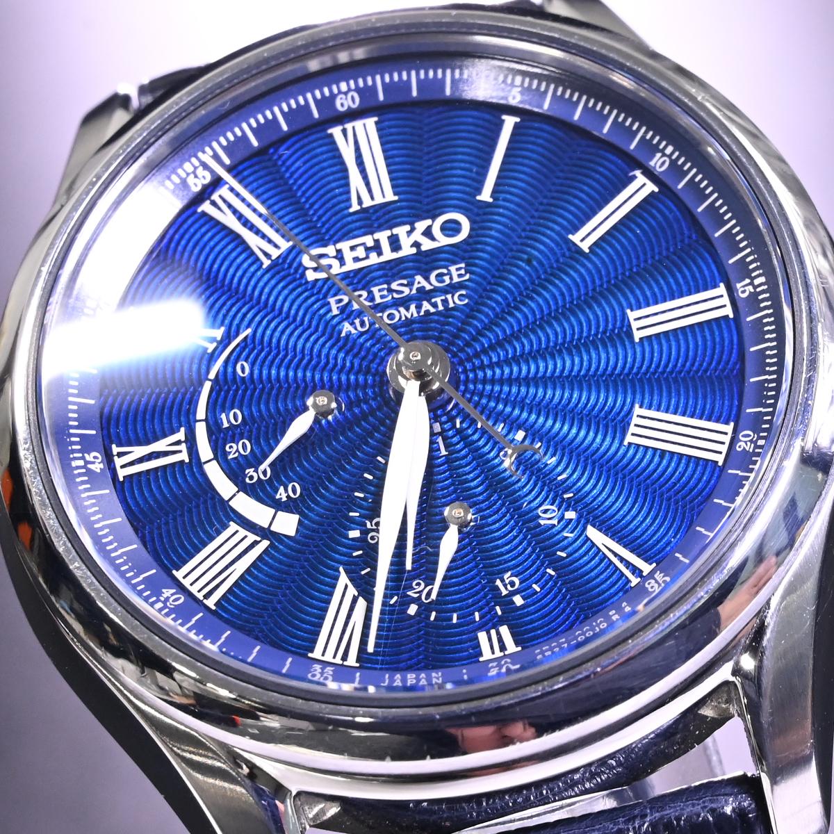 本物 美品 セイコー 限定品 SARW039 エナメル七宝文字盤 メカニカル プレサージュ メンズウォッチ 男性用自動巻腕時計 保証書 取説付 SEIKO_画像3