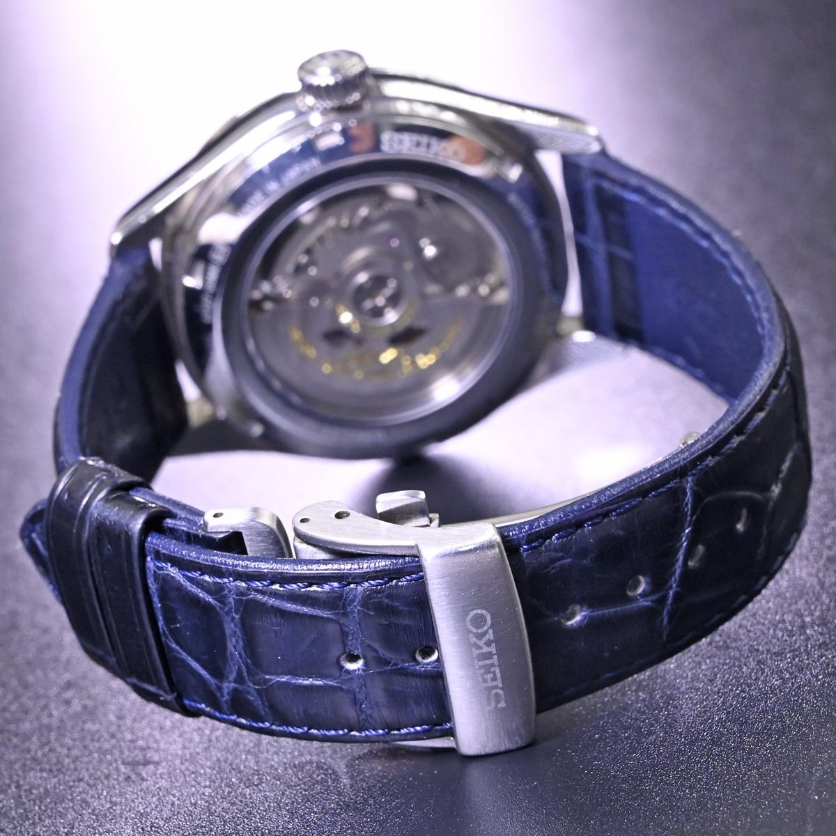 本物 美品 セイコー 限定品 SARW039 エナメル七宝文字盤 メカニカル プレサージュ メンズウォッチ 男性用自動巻腕時計 保証書 取説付 SEIKO_画像7