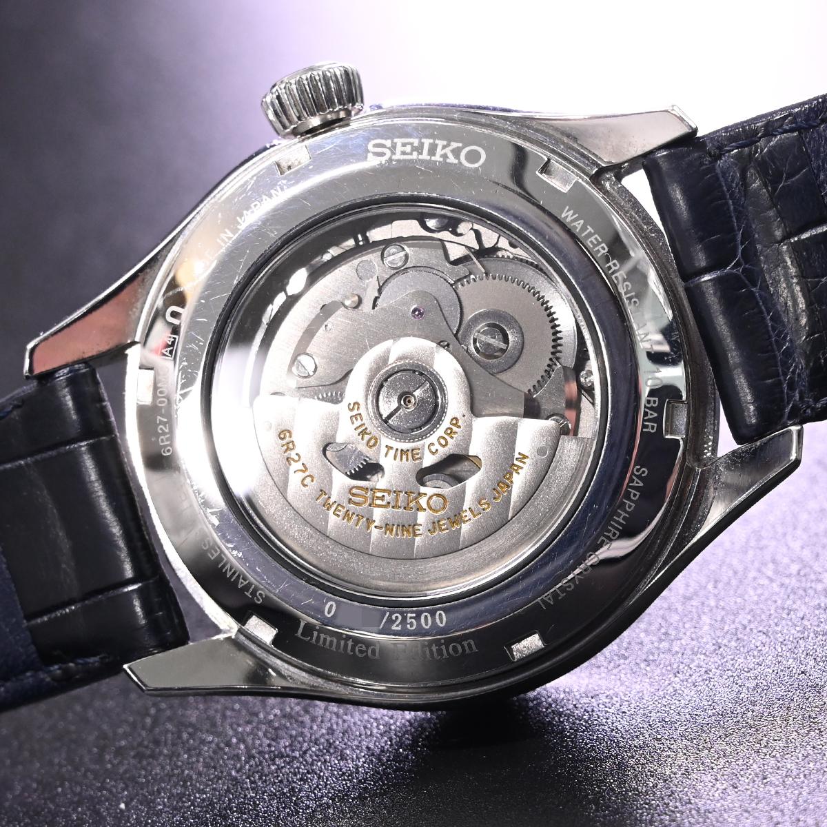 本物 美品 セイコー 限定品 SARW039 エナメル七宝文字盤 メカニカル プレサージュ メンズウォッチ 男性用自動巻腕時計 保証書 取説付 SEIKO_画像8
