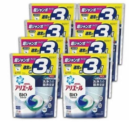 アリエールBIOジェルボール つめかえ超ジャンボサイズ 洗濯洗剤 46個入 8袋