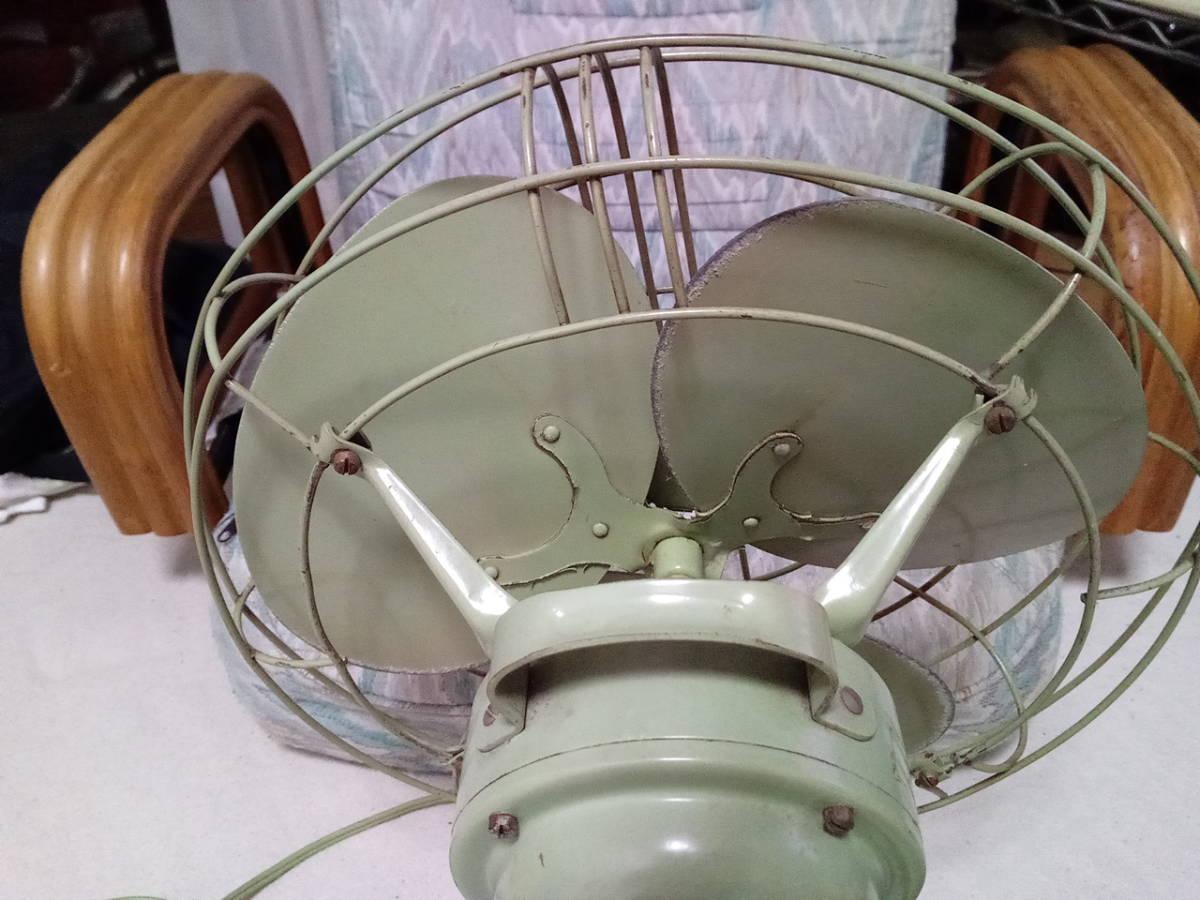 風量・首振り動作品 扇風機 三菱 エレクトリックファン 3枚羽 昭和レトロ インテリア アンティーク _画像5