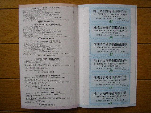 最新 JR東日本の株主優待割引券3枚綴りと株主サービス券 有効期間 2021年6月1日~2022年5月31日_画像8