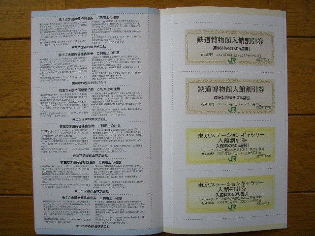 最新 JR東日本の株主優待割引券3枚綴りと株主サービス券 有効期間 2021年6月1日~2022年5月31日_画像9