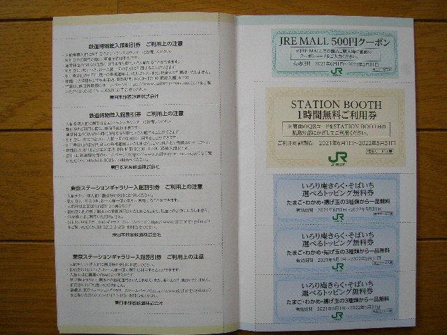 最新 JR東日本の株主優待割引券3枚綴りと株主サービス券 有効期間 2021年6月1日~2022年5月31日_画像10