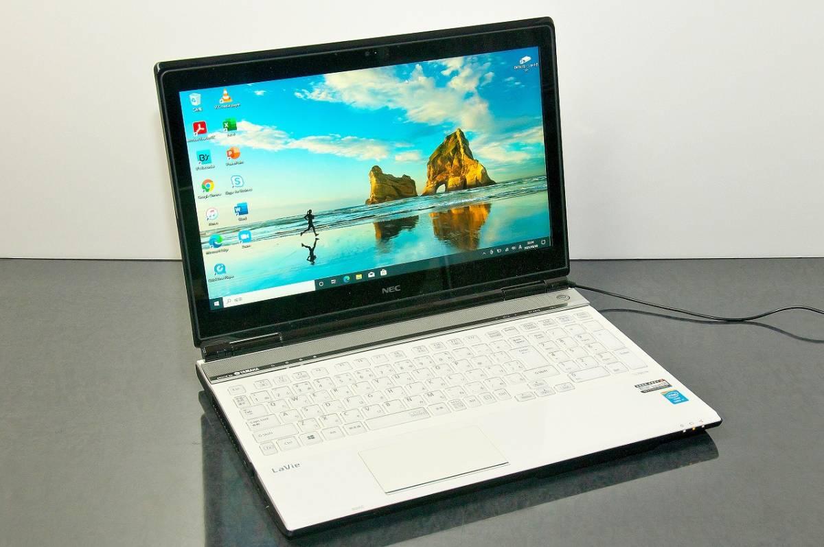 ★SSD512GB・ HD1TB 美品 タッチパネル ハイスペック PC-LL750NSW i7-4700QM 2.4GHz 16GB Win10 64ビット YAMAHAスピーカー USB3.0
