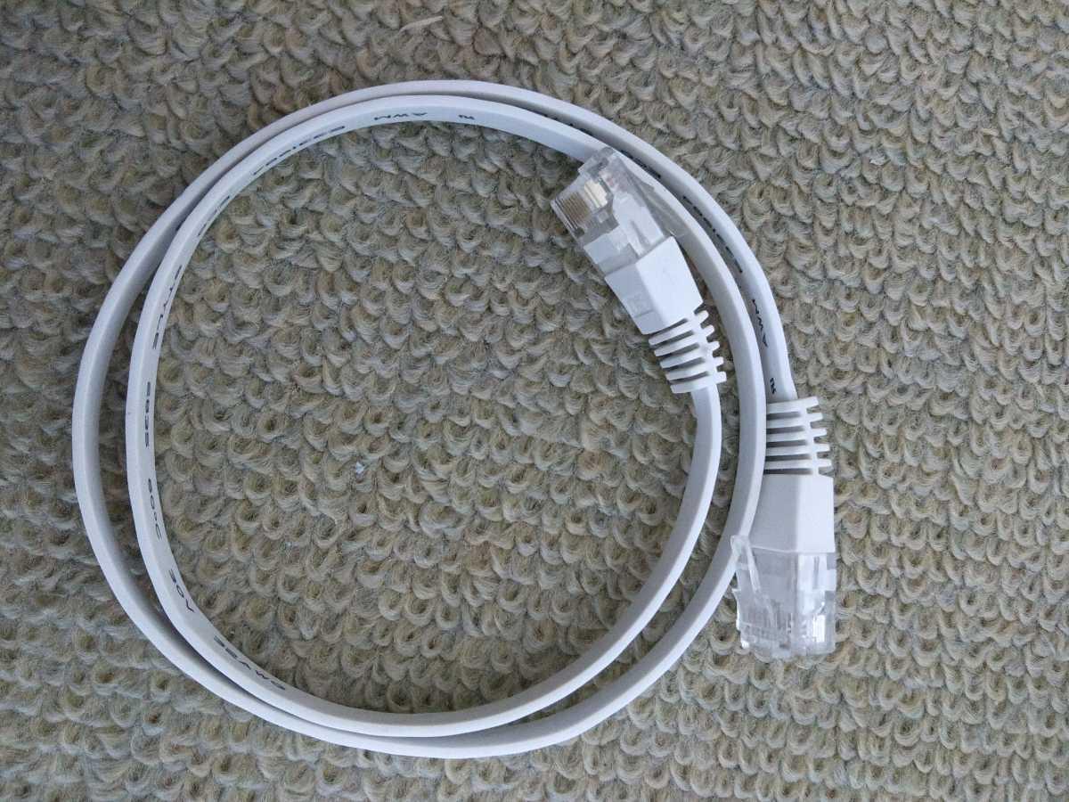 LANケーブル フラットタイプ0.5m