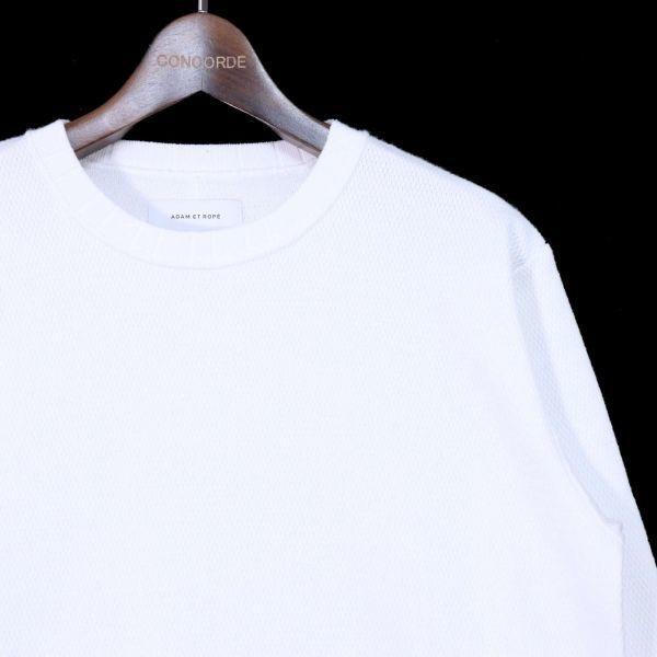 ADAM ET ROPE アダム エ ロペ 通年 長袖 カットソー Tシャツ Sz.M メンズ 白 E1T01052_4#F_画像2