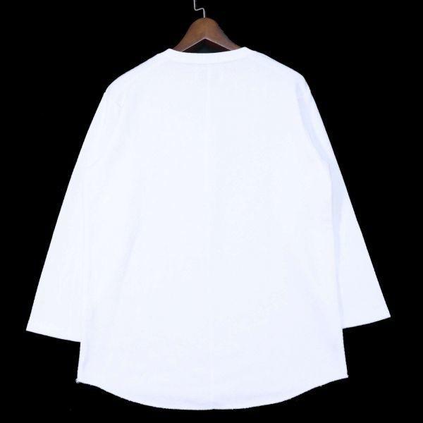 ADAM ET ROPE アダム エ ロペ 通年 長袖 カットソー Tシャツ Sz.M メンズ 白 E1T01052_4#F_画像4