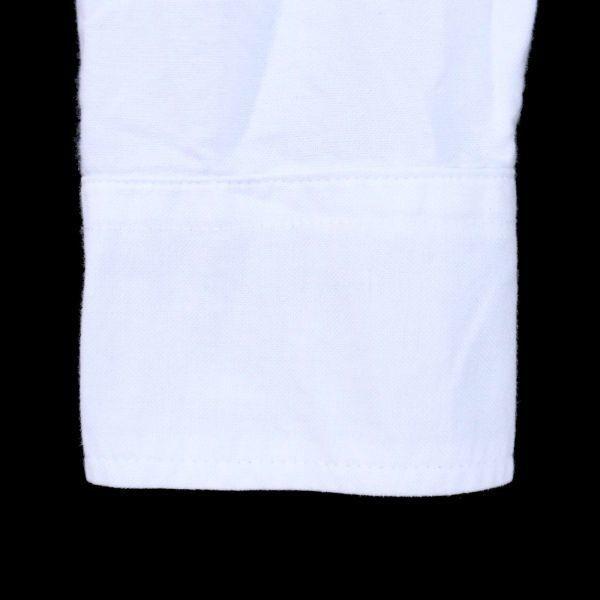 PUNK DRUNKERS パンクドランカーズ 通年 刺繍 長袖 シャツ Sz.M メンズ 日本製 白 E1T01042_4#C_画像3