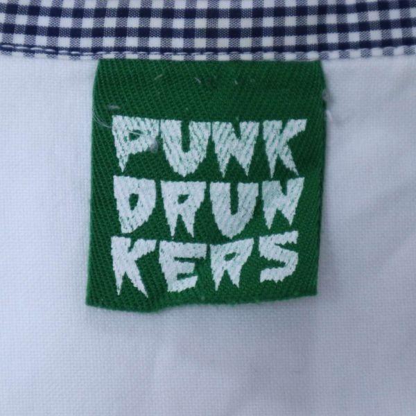 PUNK DRUNKERS パンクドランカーズ 通年 刺繍 長袖 シャツ Sz.M メンズ 日本製 白 E1T01042_4#C_画像5