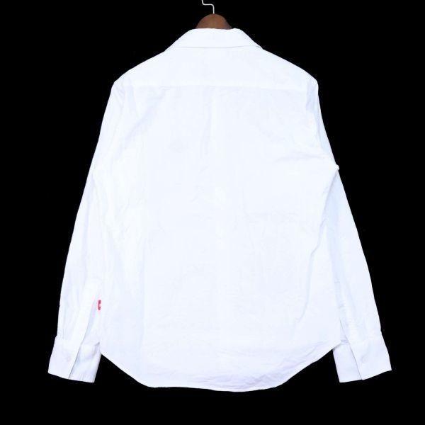 PUNK DRUNKERS パンクドランカーズ 通年 刺繍 長袖 シャツ Sz.M メンズ 日本製 白 E1T01042_4#C_画像4